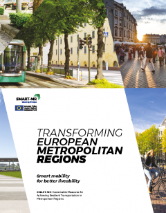 Cover for Transforming European Metropolitan Regions. Smart mobility for better liveability