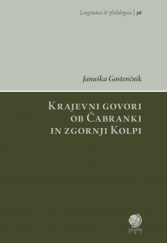Cover for Krajevni govori ob Čabranki in zgornji Kolpi