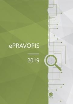 Cover for ePravopis 2019