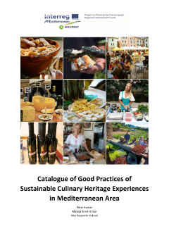 Cover for Catalogue of Good Practices of Sustainable Culinary Heritage Experiences in Mediterranean Area